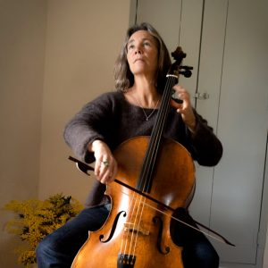 Ruth Phillips playing cello