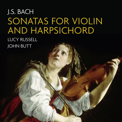 J.S. Bach: Sonatas for violin & harpsichord CD sleeve