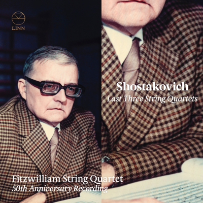 Shostakovich: Last Three String Quartets; 50th Anniversary Recording CD sleeve