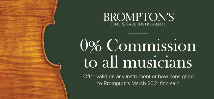 Bromptons Fine and Rare Instruments Banner