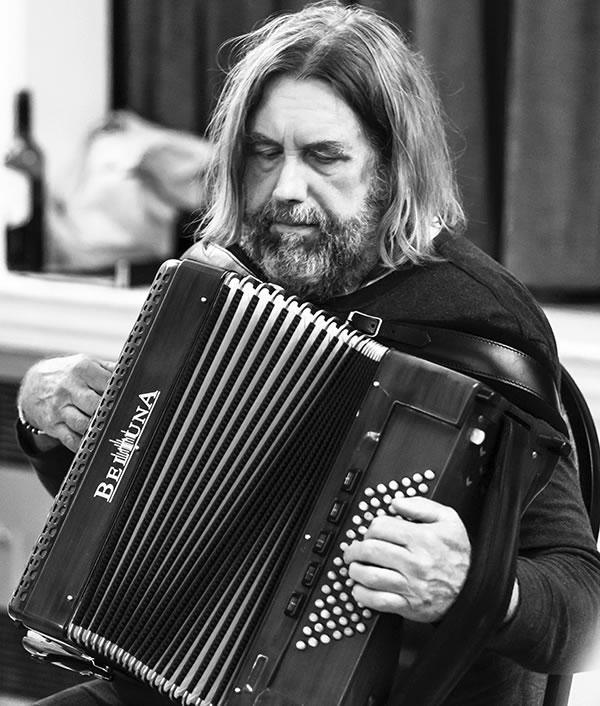 Paul Hutchinson with his accordion
