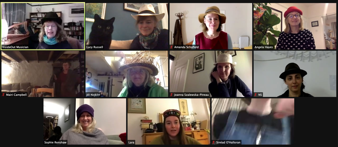 Zoom session with Liz Dilnot Johnson